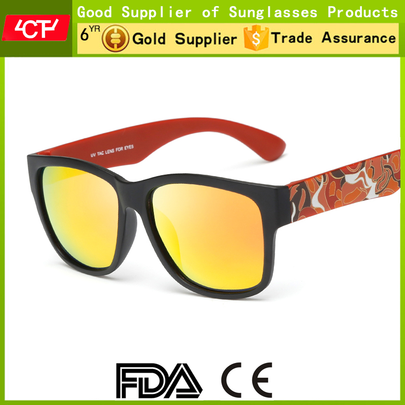 2016 fashionable style retro logo uv400 polarized men printing sunglasses wholesale