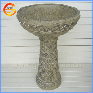 cheap outdoor stone bird bath