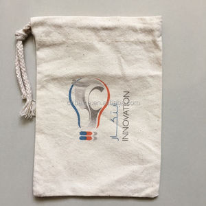 Small cotton drawstring pouch wholesale custom organic gift bag