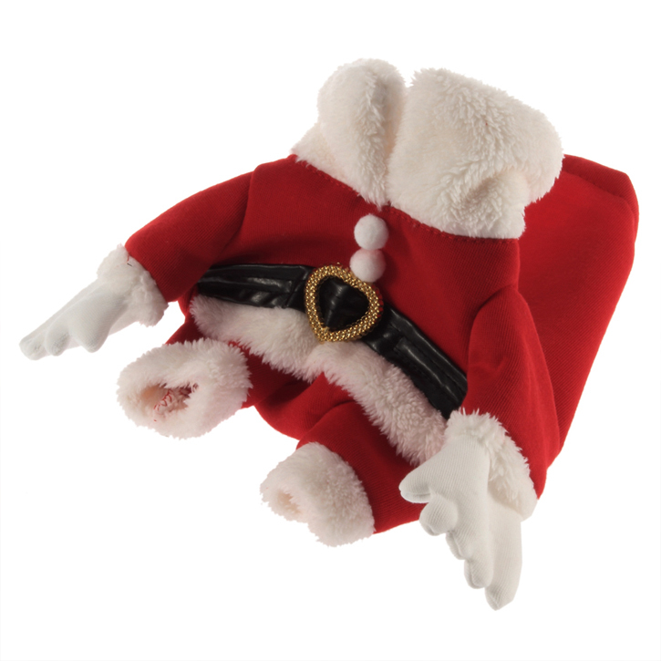 Holiday Seasons Hot Pet Clothes Santa Costume Dog Clothes and Cap