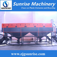 PE film crushing washing drying recycling machine