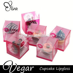raw materials of lipstick cupcake shape container magic makeup lip gloss