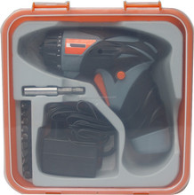 3.6Volt/4.8Volt cordless screwdriver with 12pcs bits in box