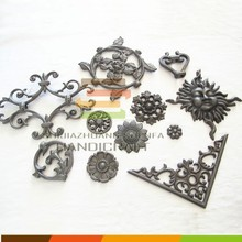 Factory making decorative cast iron metal ornaments for doors