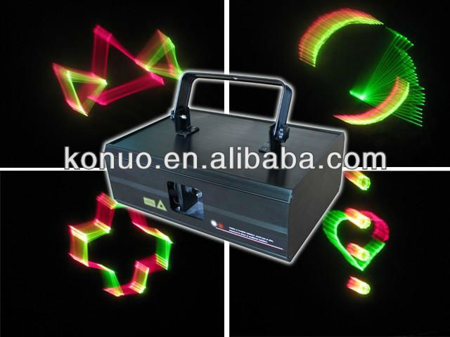 300mW RGV 7 color 3D Animation christmas party Laser stage lights projector
