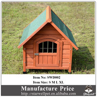 Factory cheap price wooden outdoor dog kennel with lockable door