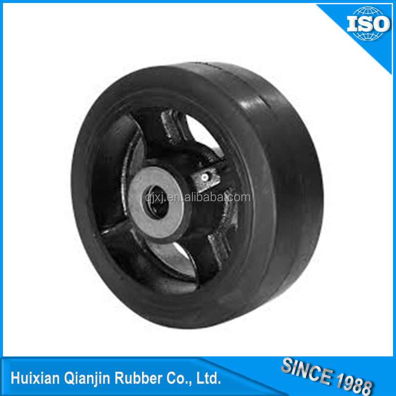 TOP quality diameter 120mm rubber wheel of China suppliers