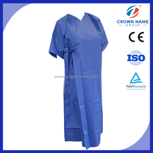 factory direct wholesale hign quality cheap disposable patient clothing