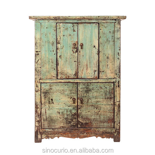 Chinese antique distressed recycle wood old cabinet Furniture