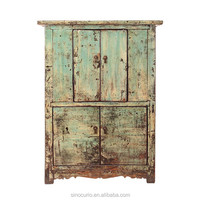 Chinese Antique Distressed Recycle Wood Old