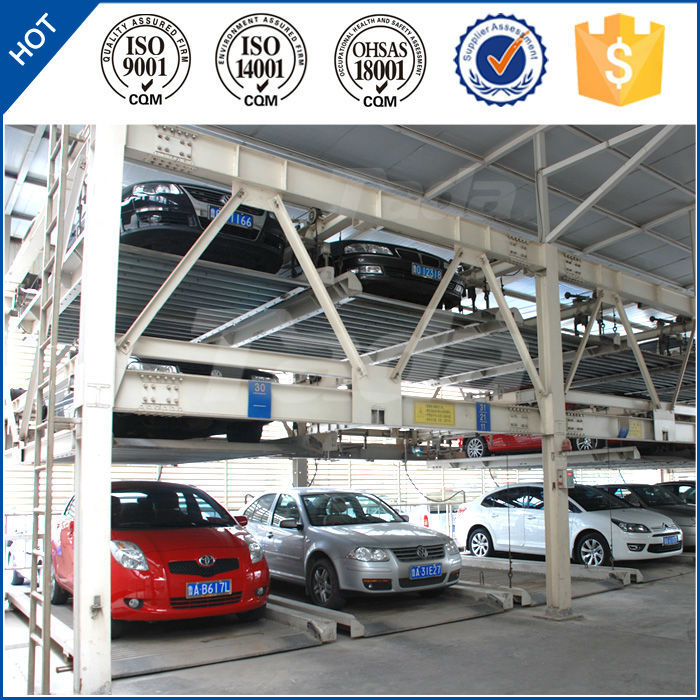 psh 4 post 3 layer smart vertical horizontal automated mechanism car parking system