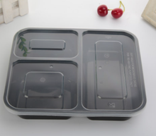 1000 ml 3 compartimento desechable alimentos grado plástico Bento lunch box