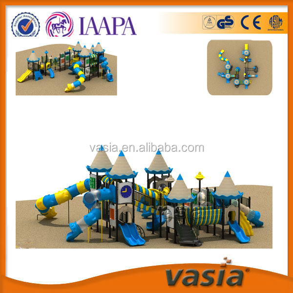 Big outdoor playground equipment plastic slide for kids