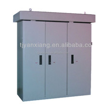 SKW-004 electric steel cabinet/outdoor battery rack/sheet metal indoor storage box with 3 locking doors