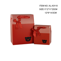 Foldable red paper wedding gift boxes