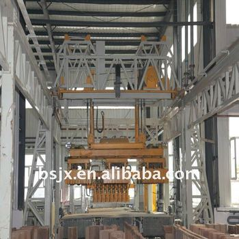 Automatic setting machine for brick making production line