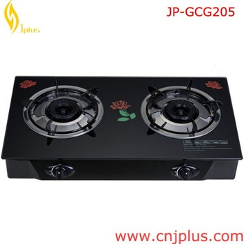 JP GC205 China Heavy Duty Tempered Glass Table Top Natural Blue Flame Gas  Stove