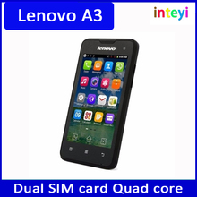 "Original Cheap lenovo A3 old people mobile phones 4.0"" Android 2.3 OS Quad core WIFI GPS Dual Sim Card 3G wcdma cellphone"