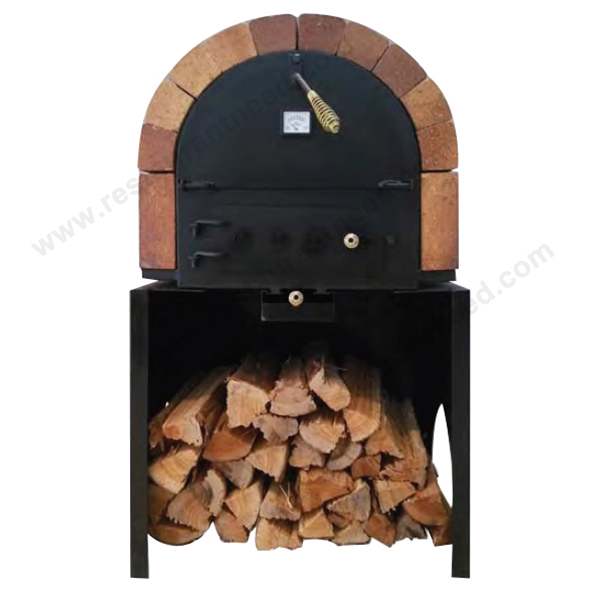 Restaurant Insulated Brick Indoor/Outdoor Wood Burning Pizza Oven