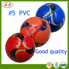 Rubber bladder best football football /machine stitched size 5 pvc football soccer ball