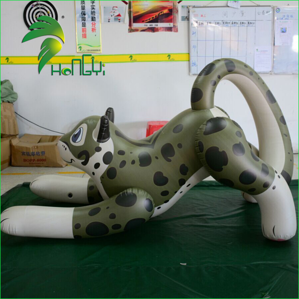 Hongyi Charming Inflatable Leopard Animal Cartoon Toys With PVC0.4mm