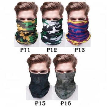 KaPin Men Women Colorful Elastic Seamless Sports Tube Head Scarf