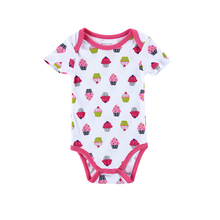 100% Cotton Newborn Baby Bodysuit Short Sleeve Wholesale Carters Baby Clothes