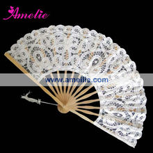 A-Fan072(27cm) Wholesale Cheap Wedding Decorations white lace wedding fans