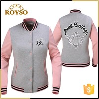 Custom Made Youth Size Women American Baseball Bomber Leather Sleeve School Uniforms Football Ladies Varsity jacket