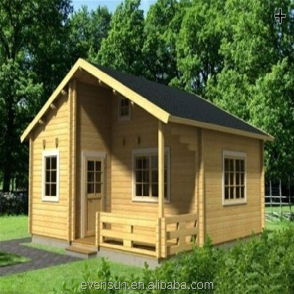 Indian prefab portable wooden log cabin
