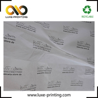 Custom logo printed tissue wrapping paper for jewelry packaging, shirt packaging tissue paper, gift wrapping