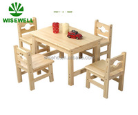 wooden children furniture set kids dining table chairs W-5S-85