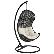 2017 Baby wrought iron wicker hanging outdoor swing chair
