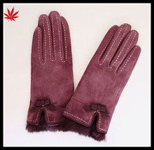 ladies wholesale cheap suede leather hand gloves