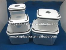 plastic click lock food container for family food container