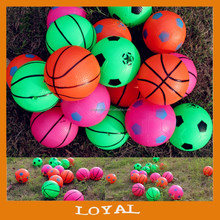 Inflatable 10cm rubber ball mini rubber basketball football kids rubber toy balls
