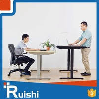 Most popular office furniture2 people height adjustable desk electric stainless