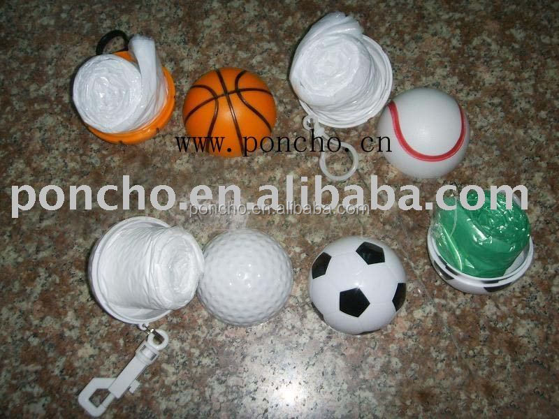 PE Football Rain Poncho,Ball rain coat,Golf ball waterproof rain coat