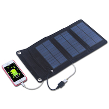 5W Monocrystalline Silicon Portable Folding Solar Panel Charger for Cellphone Charging