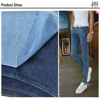 10.8 oz factory washed denim jean fabric