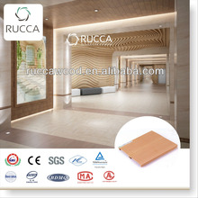 Interior ceiling decorative panels/ healthy durable wood plastic composite ceiling 100*15 China supplier