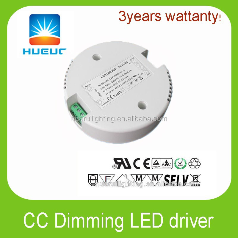 30w round shape led driver 24VDC 1500ma dimmable led Power Supply constant current