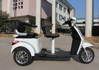 EEC APPROVED double seats for handicapped disabled and old person electric tricycle and 3 wheels electric scooter