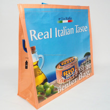 Wholesale reusable factory custom low price promotional RPET tote bag with Interlayer
