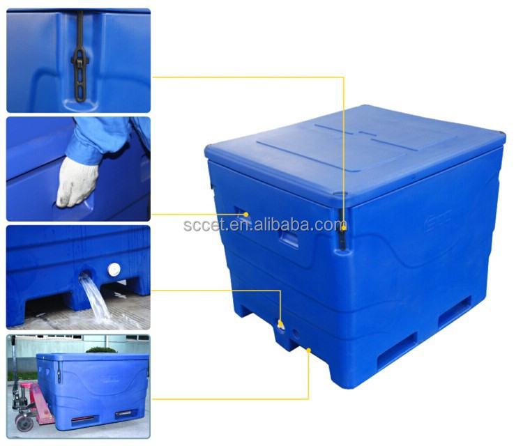 1000L Plastic Cool Containers for fish