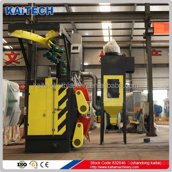 CE Approved Kaitech Q376 Q378 hook type gas cylinder shot blasting machine