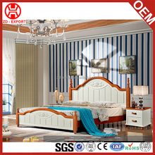 Chinese Design Genuine Solid Wood King Size Bed Frame