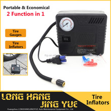 mini tire inflator with tire gauges digital car air compressor muti function 2 in 1 portable 12v air compressor with tank
