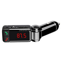 Yaika BC06 Stereo Handsfree car kit wireless Bluetooth Car charger mp3 player FM transmitter with dual port usb car charger