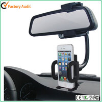 Car Rearview Mirror Holder Cradle Mount Phone Holder For iPhone 6S 6 Plus 5S for Samsung Galaxy S6 S5 S4 i9500 S3 i9300 S2